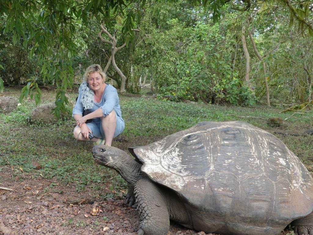 Begegnungen auf Galapagos - Beate Zwermann auf Santa Cruz