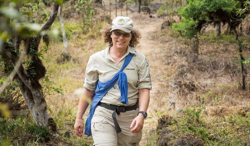 Karin Kugele - die Ansprechpartnerin auf der Insel Santa Cruz
