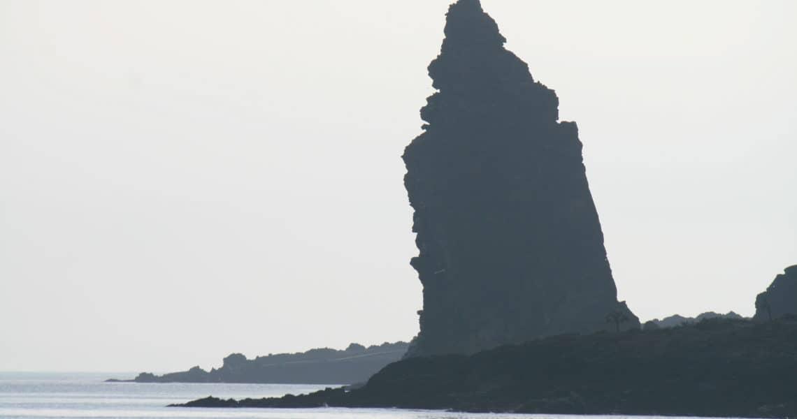 Wahrzeichen und Sehenswürdigkeit der Galapagos-Inseln ist der Pinnackle Rock auf der Galapagos-Insel Bartolomé