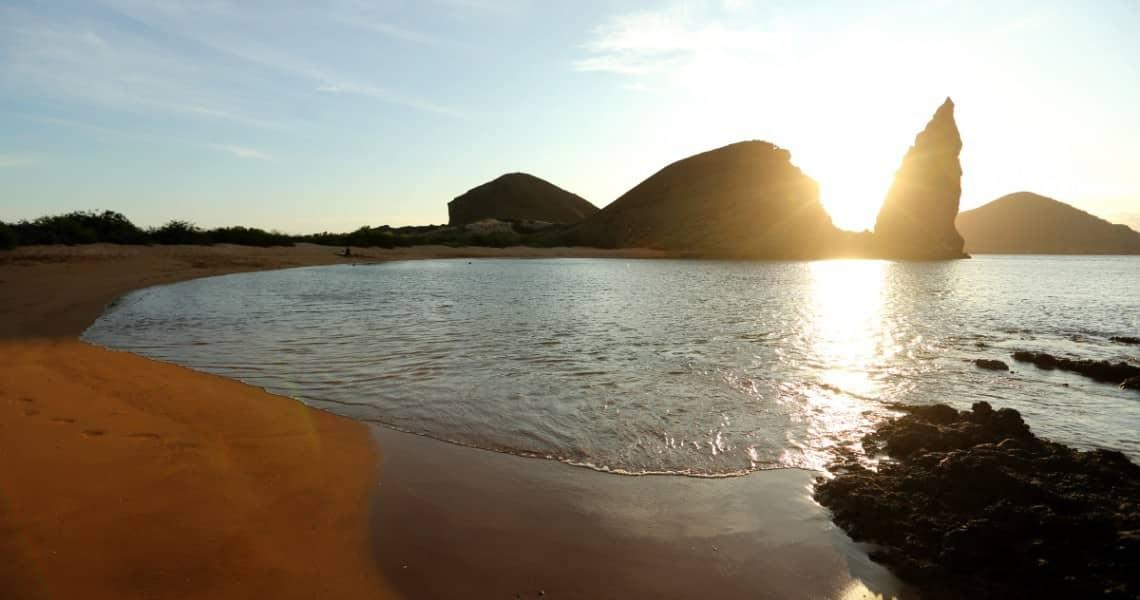 Wahrzeichen Pinnackle Rock auf Galapagos-Insel Bartolomé