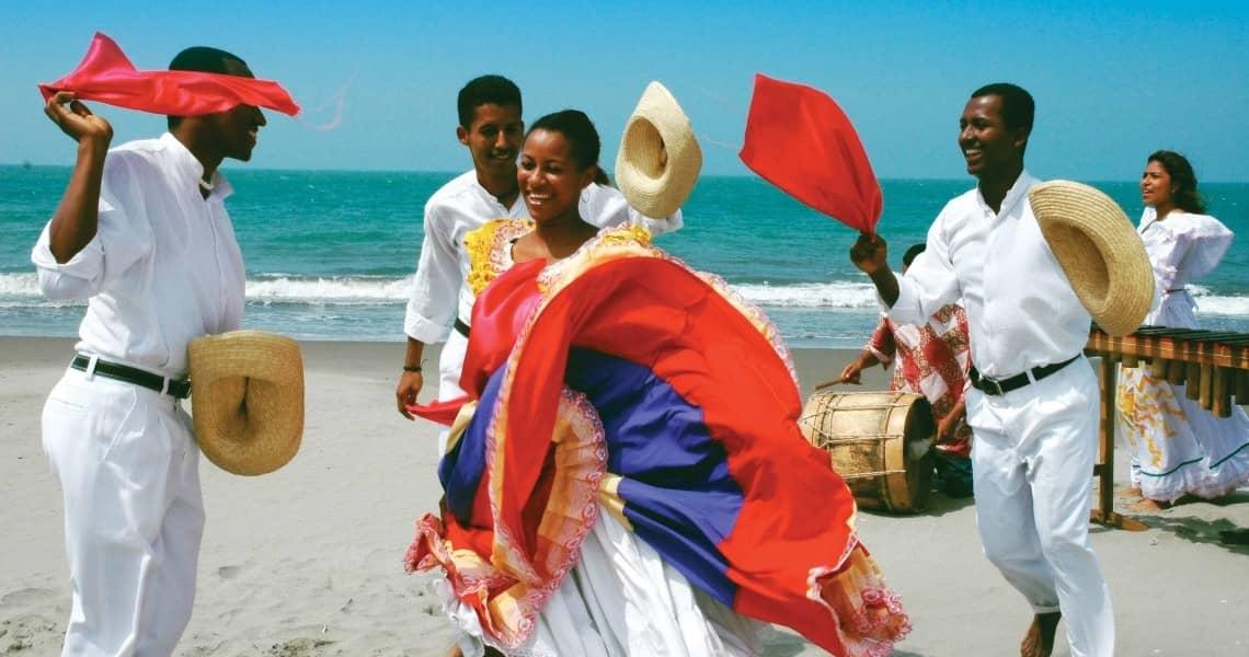 Traditioneller Tanz an Ecuadors Küste