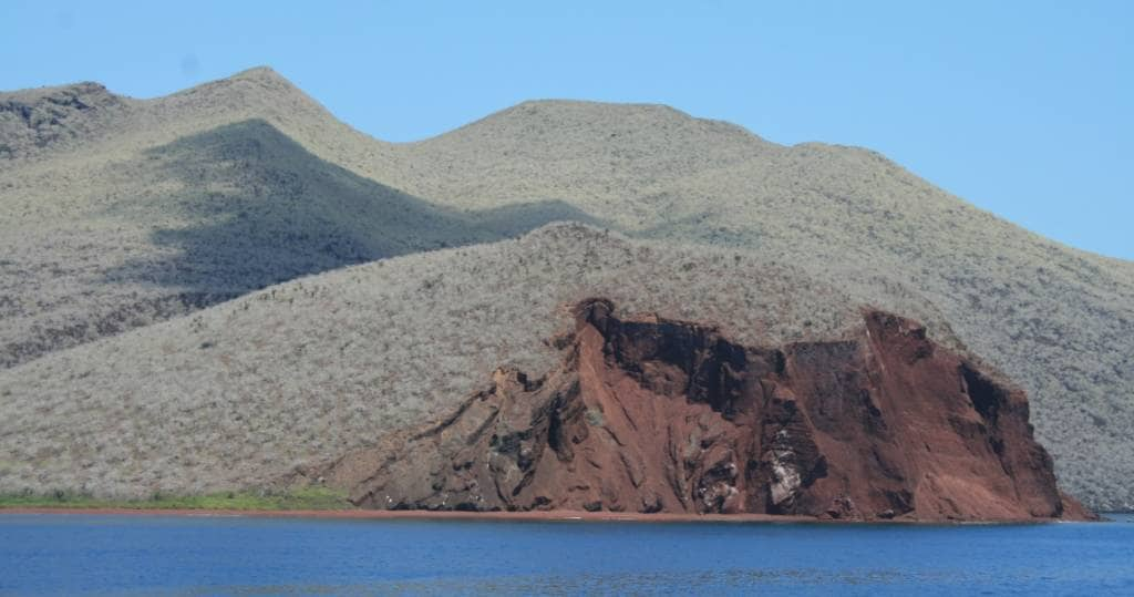 Blick auf die Galapagos-Insel Rábida