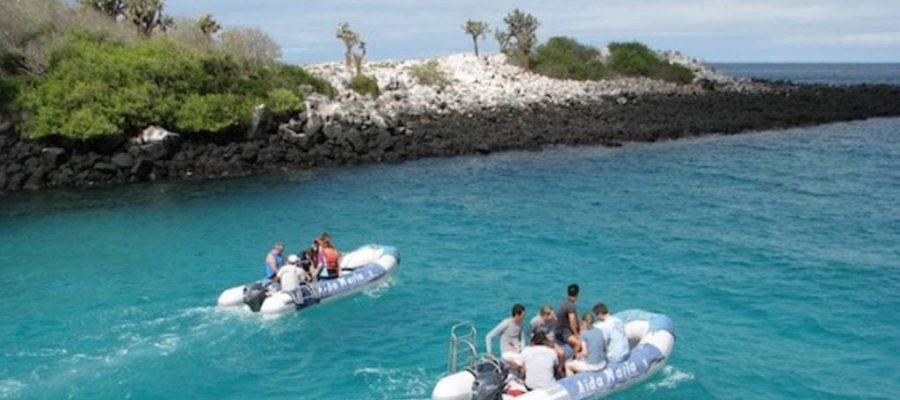 Ausflüge vom Kreuzfahrtschiff auf die Galapagos-Insel Seymour Nord