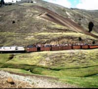 Train through the Andes