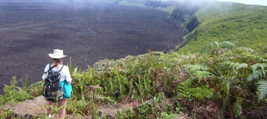 Der Krater des Vulkans Sierra Negra - einfach riesig.