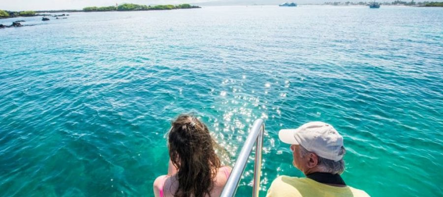 Las Tintoreras on Isabela Island is known for the beautiful turquoise waters