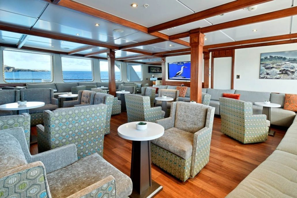 Galapagos cruise Celebrity Xpedition Lounge
