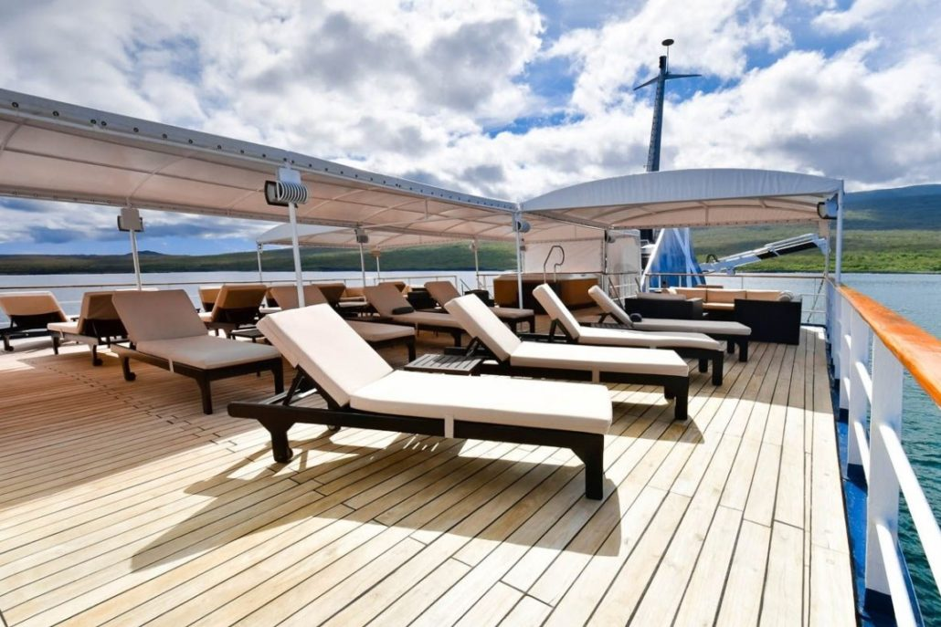 Galapagos cruise Celebrity Xpedition Sundeck