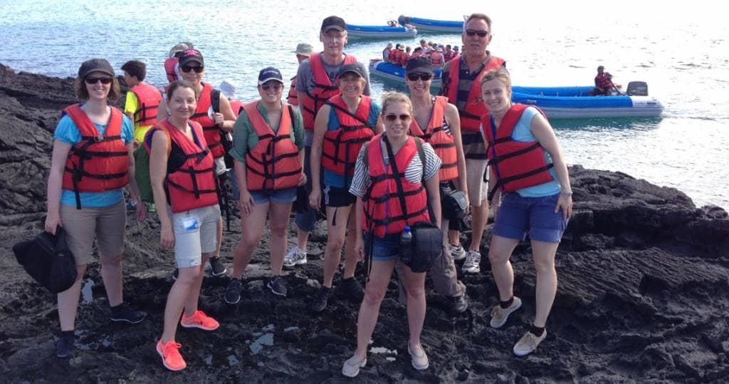 Trockenlandung auf der Galapagos-Insel Santiago