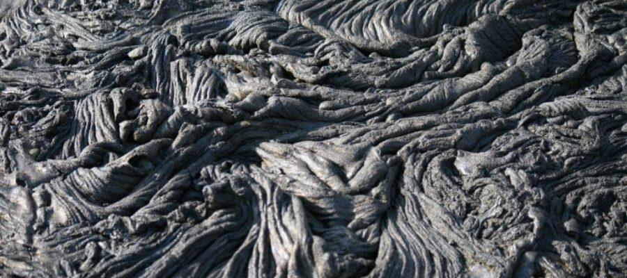 Interessante Lavastrukturen auf der Galapagos-Insel Santiago