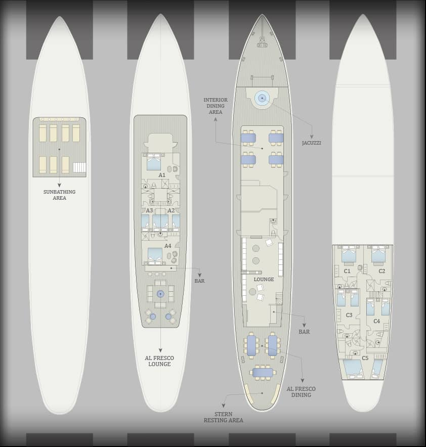 Galapagos PRO Grace deck plan