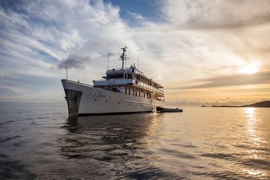 """In den Sonnenuntergang schippern mit der Motoryacht """"Grace"""" und Galapagos PRO"""