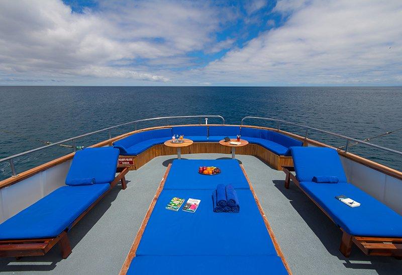 Galapagos-Kreuzfahrt mit der Motoryacht Beluga - Tolle Rundumsicht vom Sonnendeck