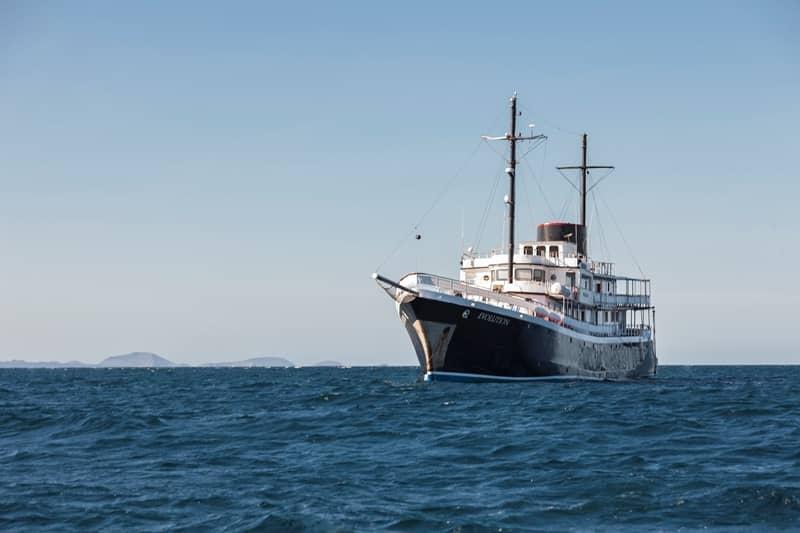 Galapagos PRO Evolution ship at sea