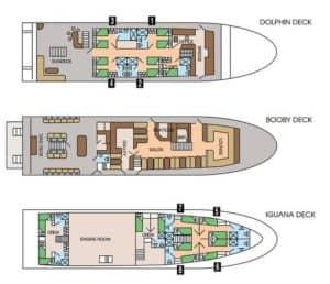 """Deckplan der """"Galapagos Sky"""""""