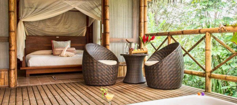 Die luxuriösen Zimmer der La Selva Lodge - Ecuador & Galapagos Luxus-Reisen