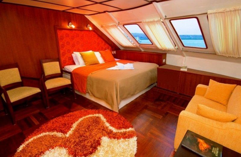 Galapagos-Kreuzfahrt - Kabine auf dem Luxuskatamaran Anahi