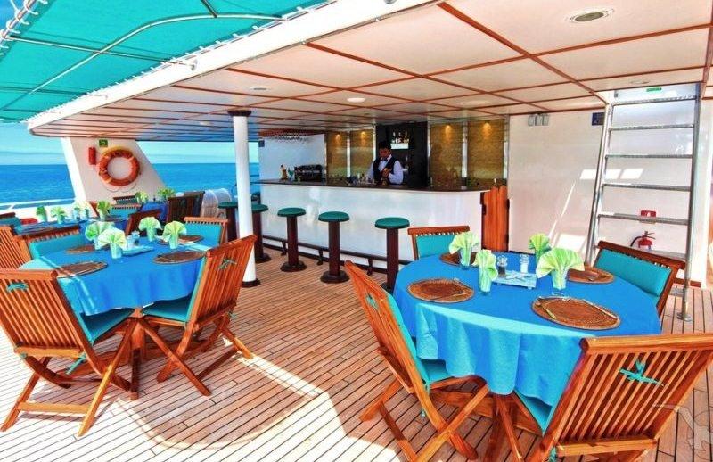 Galapagos-Kreuzfahrt - Außenspeisebereich