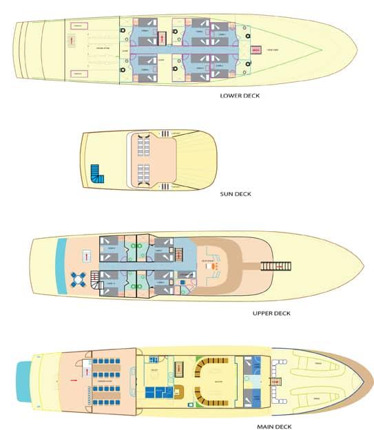 Galapagos Pro Tip Top IV deck plan