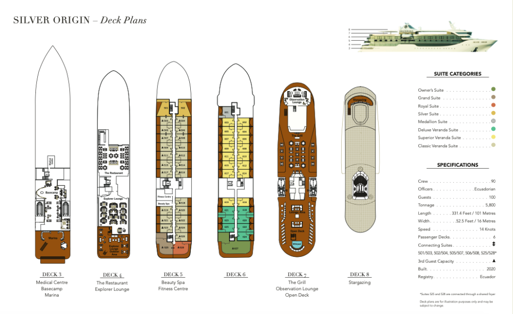 Galapagos Silver Origin Deck Plan