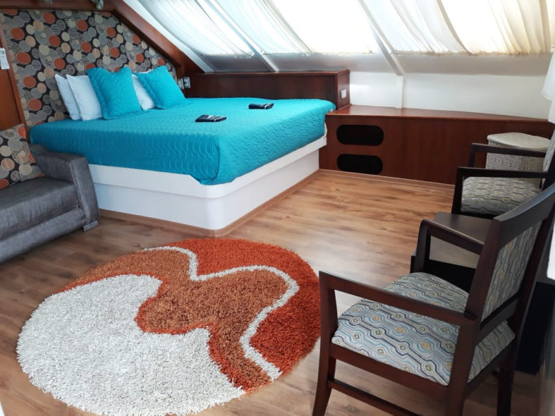 Die Anahi Katamaran Kabine bei Galapagos Pro die Galapagos-Kreuzfahrt Anahi