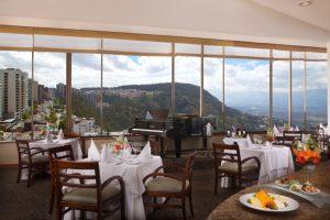 Toller Blick auf die Berge und die Stadt - Restaurant Techo del Mundo in Quito