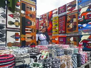 Otavalo Markets are known for the colourful patterns and incredible textiles - Shopping in Ecuador