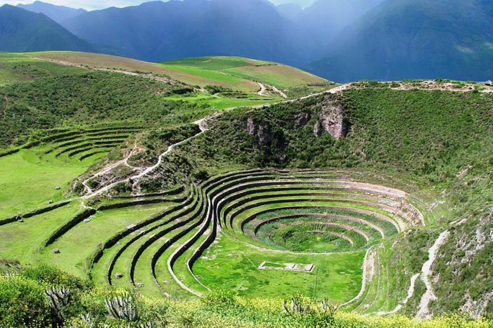 Landwirtschaftliche Terassenanlage in Moray - Top 10 Sehenswürdigkeiten im Hochland Perus