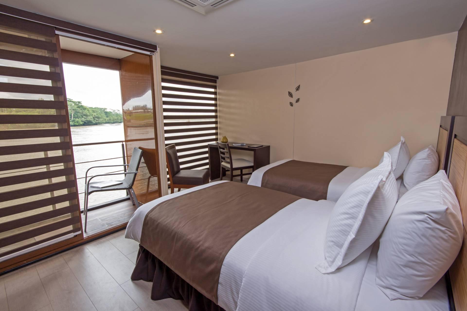 Doppelkabine auf dem Flussschiff Anakonda - Ecuador & Galapagos Luxus-Reisen