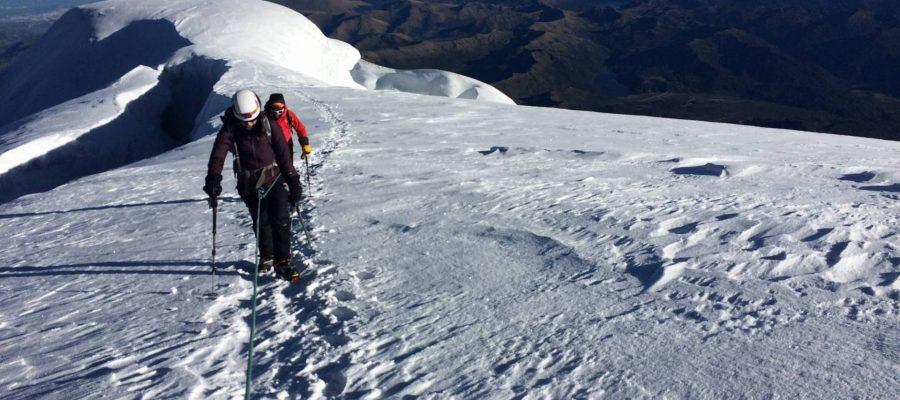 Ecuador Reisen Bergsteigen - Das Ziel vor Augen