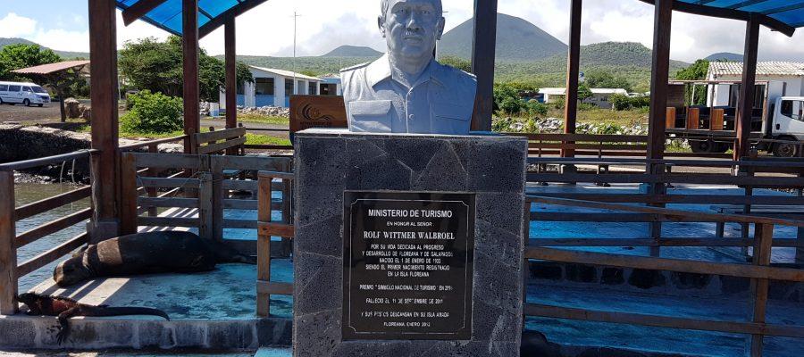 Rolf Wittmer memorial on Floreana Island
