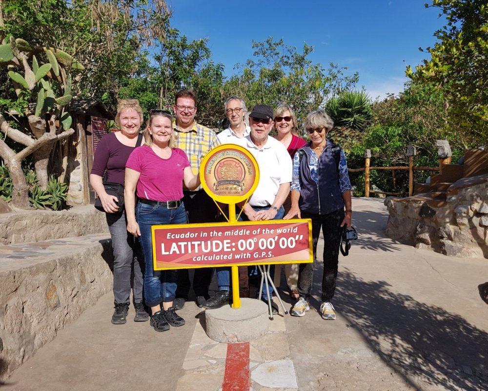 Gleichzeitig auf der Nord- und Südhalbkugel stehen - Ecuador-Galapagos-Gruppenreise