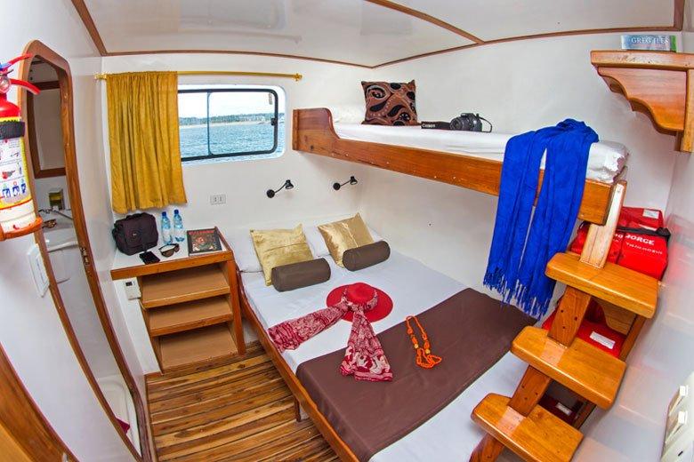 Galapagos-Kreuzfahrt Lonesome George - Dreibettkabine