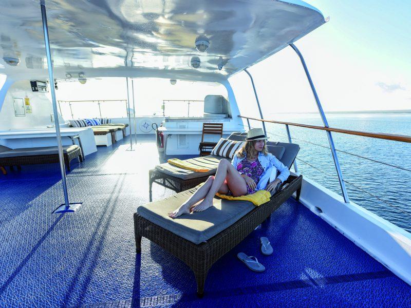 Galapagos-Kreuzfahrt - Entspannung pur auf dem Sonnendeck