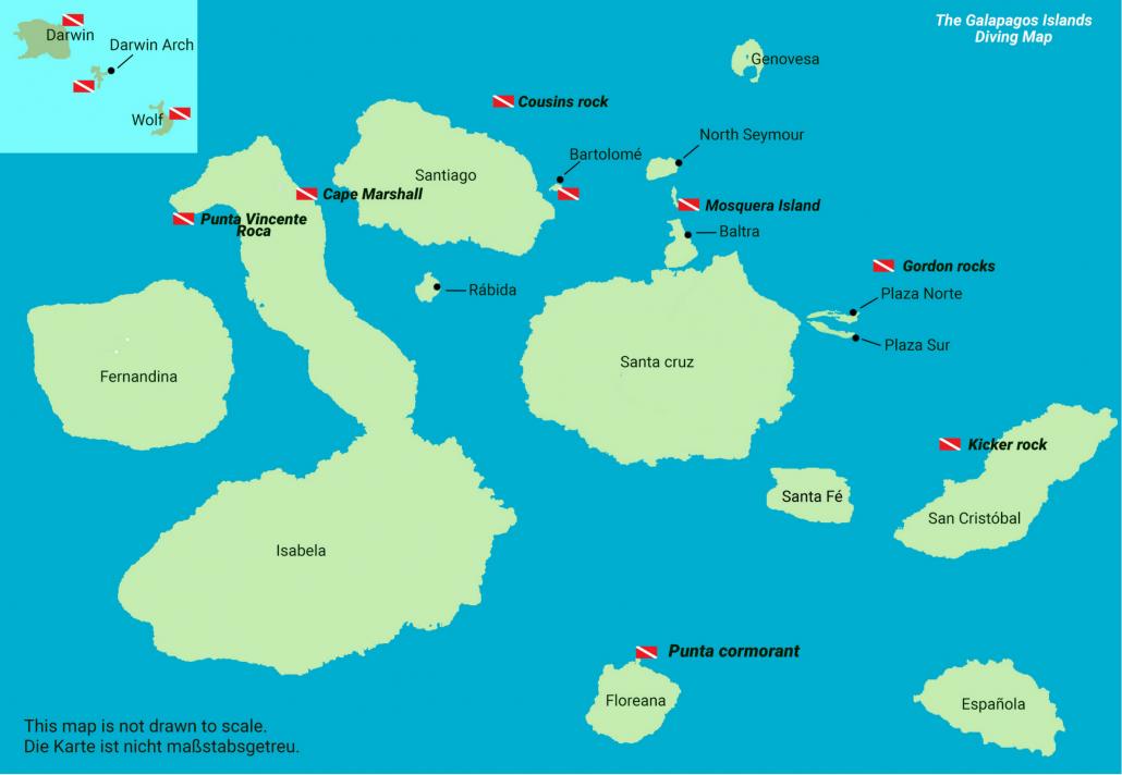 galapagos inseln karte Wo sind die Galapagos Inseln? Die perfekte Galapagos Karte hier!