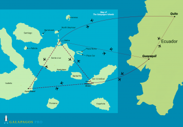 Galapagos Islands Flight Map - Flight routes to the Galapagos Islands