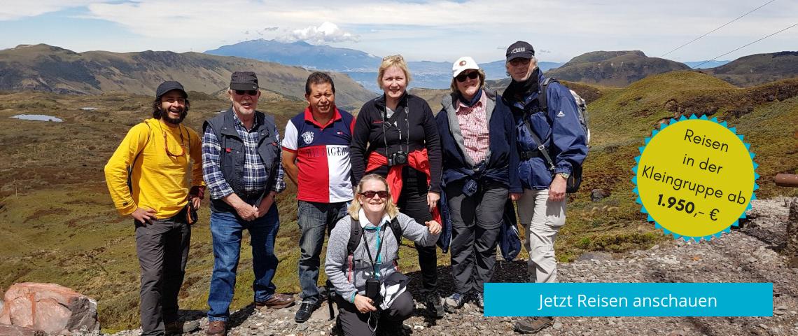 In der Kleingruppe auf eine Ecuador und Galapagos Reise gehen