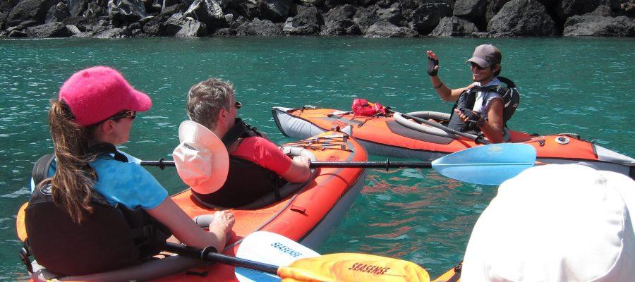 Tipps beim Seekajak fahren während einer barrierefreien Reise auf den Galapagos-Inseln