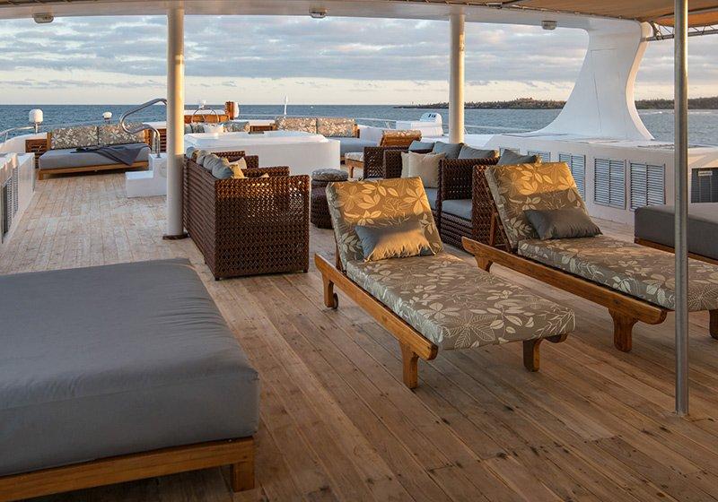 Galapagos-Kreuzfahrt Seastar Journey - Großzügiges Sonnendeck