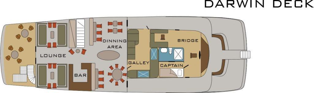 Galapagos-Kreuzfahrt Origin - Deckplan Darwin Deck