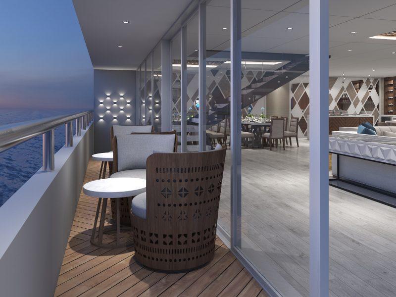 Galapagos-Kreuzfahrt Elite - Großzügiger Loungebereich