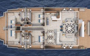Galapagos-Kreuzfahrt Elite - Deckplan Oberdeck
