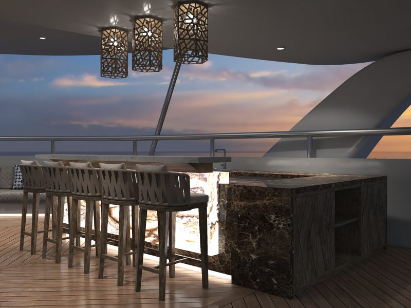 Galapagos-Kreuzfahrt Elite - Sonnenuntergang an der Bar genießen