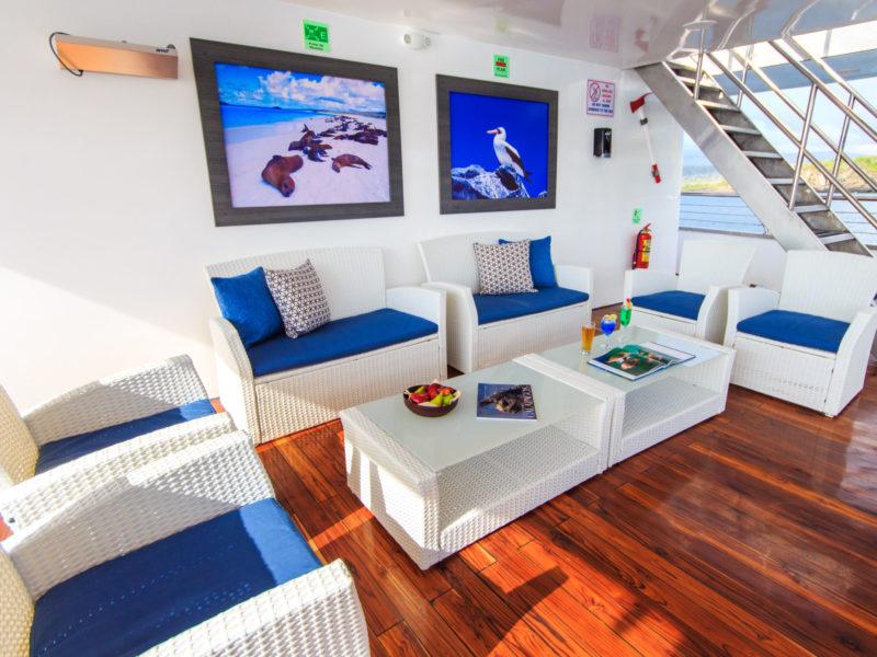 Galapagos cruise Solaris outdoor lounge