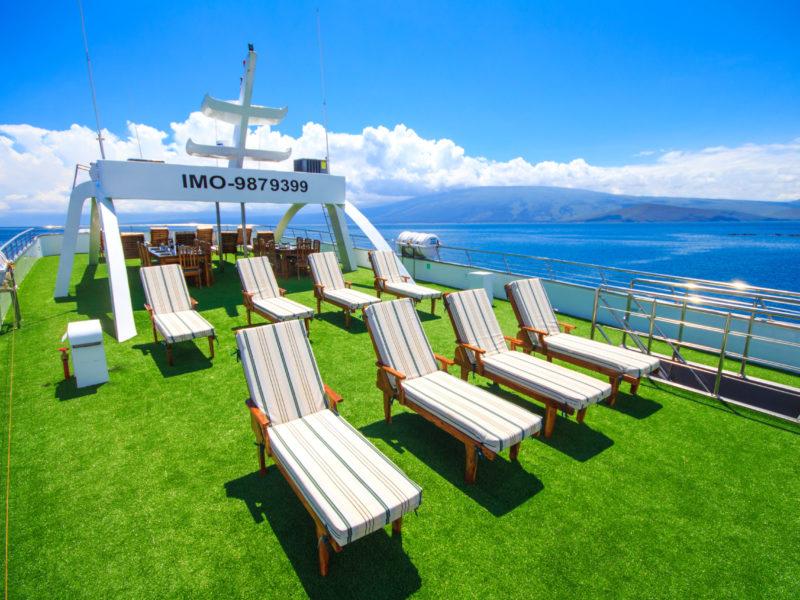 Galapagos cruise Solaris sundeck