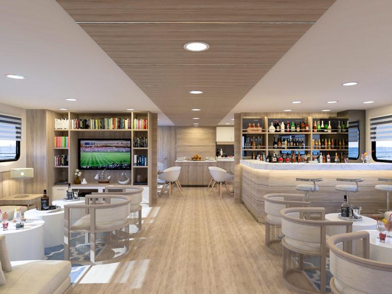 Lounge auf Galapagos-Kreuzfahrt Solaris