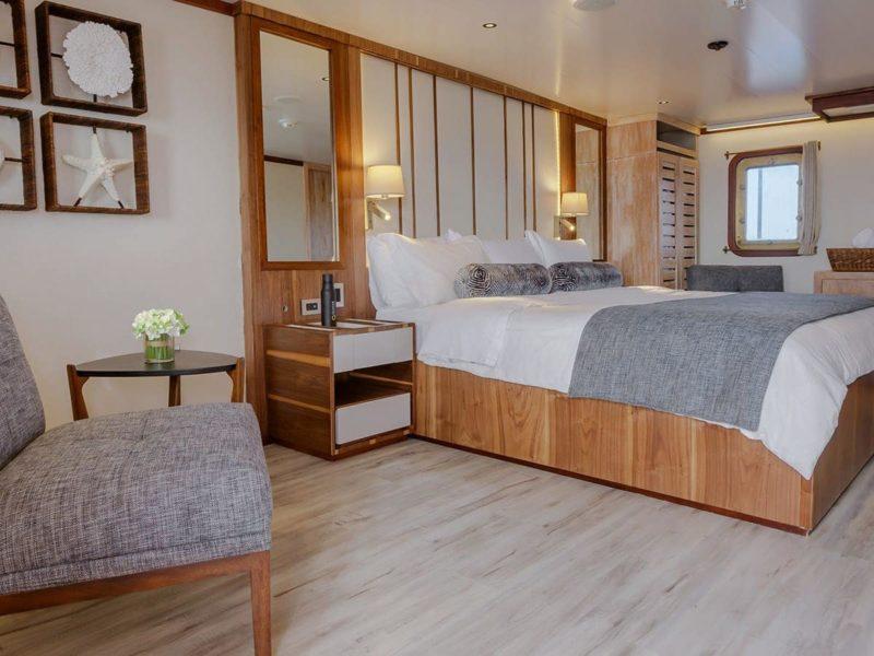 Galapagos-Kreuzfahrt Evolution - Master Suite auf dem Albatross Deck