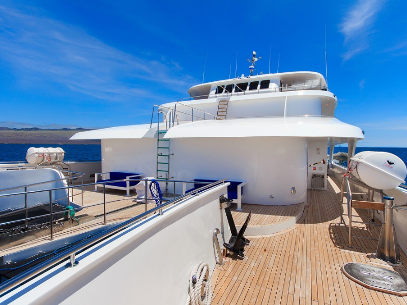 Galapagos cruise Tip Top V Upper deck