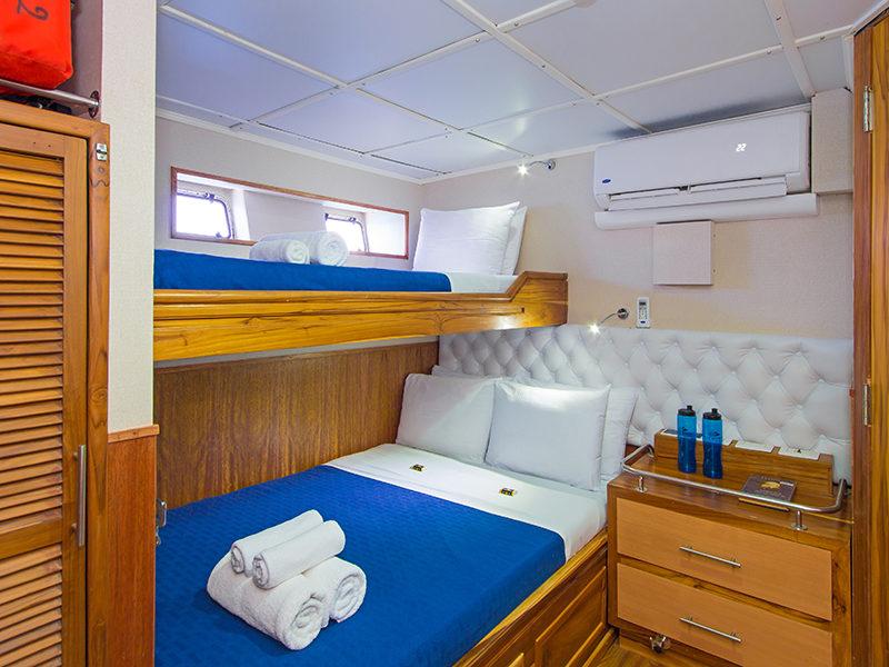 Blue Spirit Dreibettzimmer, neue Tauchsafari bei Galapagos Pro