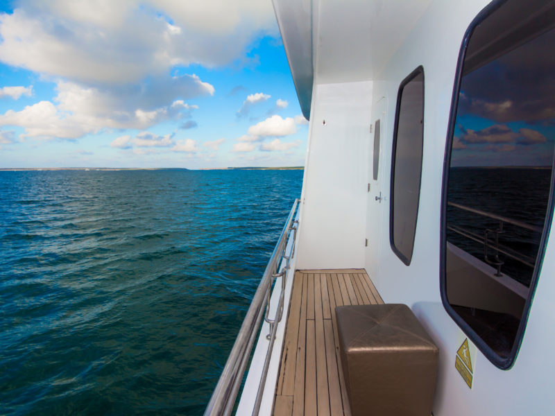 Every cabins comes with private balcony onboard Galapagos Cruise Alya